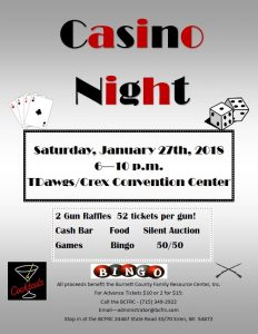 Casino Night @ T-Dawgs/ Crex Convention Center | Grantsburg | Wisconsin | United States